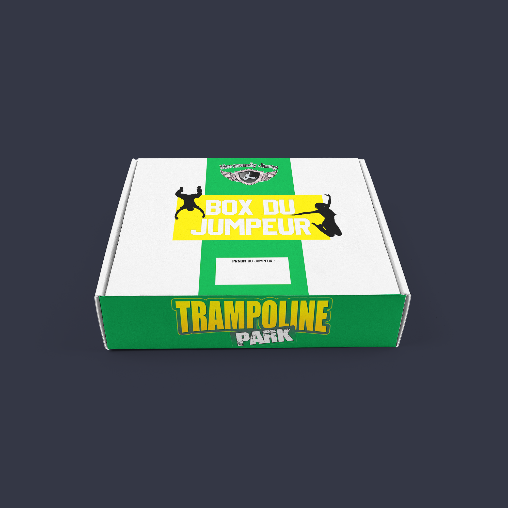 Box trampoline park normandy jump